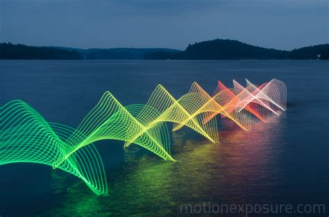 led light photography light painting with leds kayaks and canoes digital