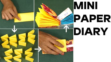 How To Make A Diary With Paper - easy mini notebook paper diary mini paper book diy