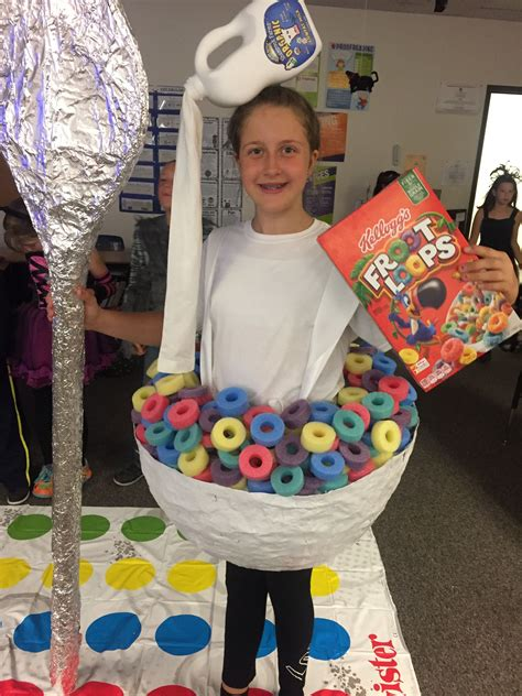 fruit loops cereal bowl costume  milk jug headpiece