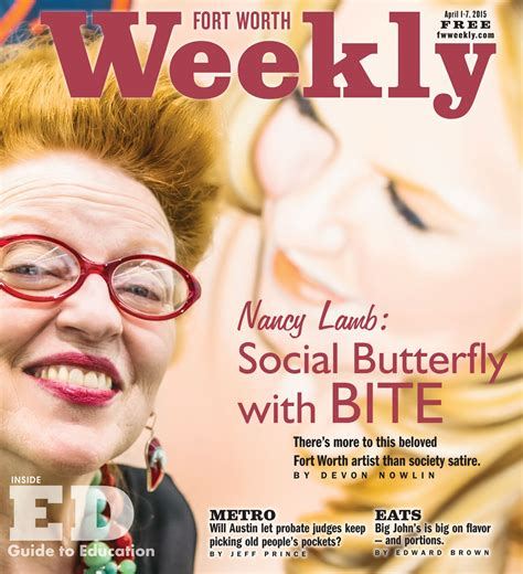 nancy lamb social butterfly  bite fort worth weekly