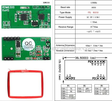 id card design software open source wholesale 125k rfid rdm6300 id rf uart for open source