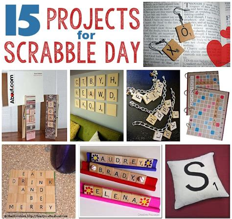 scrabble craft ideas 15 projects for scrabble day favorites