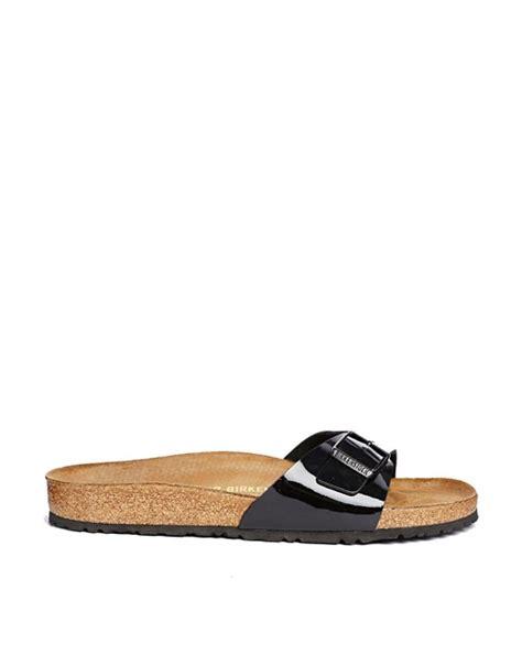 Trim Patent Flat Sandal By Asos by Birkenstock Birkenstock Madrid Black Patent Flat Sandals