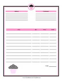 bakery invoice template