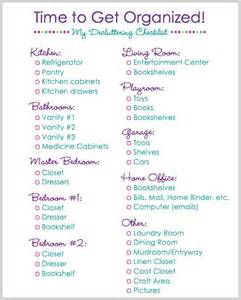 organize my house checklist time to get organized and declutter
