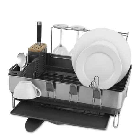 Simplehuman Steel Frame Dish Rack by Simplehuman Steel Frame Dish Rack With Wine Glass Dryer