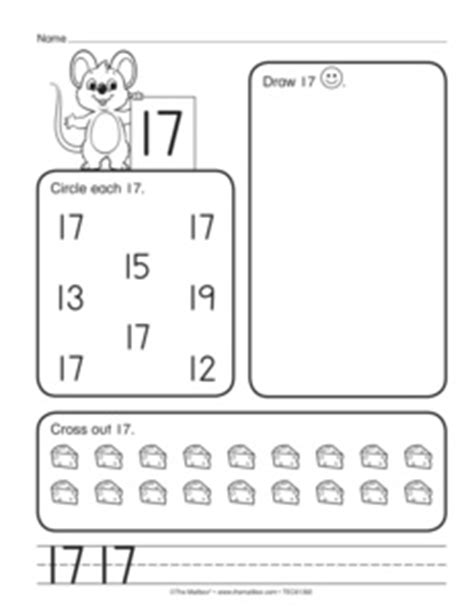 Number 17 Worksheet The Best And Most Comprehensive - number 17 worksheet the best and most comprehensive