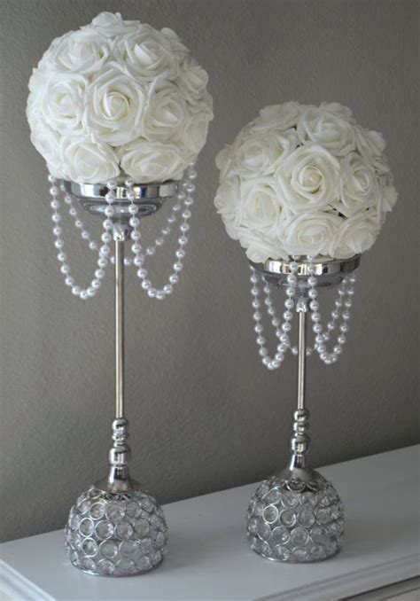 25 best ideas about pearl wedding centerpieces on
