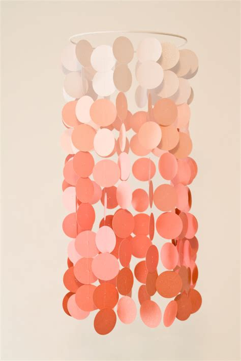 Modern Crib Mobile by Coral Ombre Paper Crib Mobile Modern Circle Mobile Modern