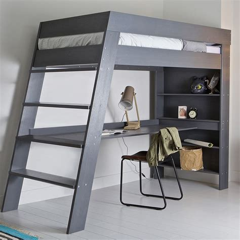 Bunk Beds Contemporary Ultra Stylish And Contemporary The Julien Loft Bed With Desk In Grey Is A Great Of