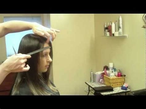 hair cut with a defined point in the back how to do a dry haircut long layers point cutting