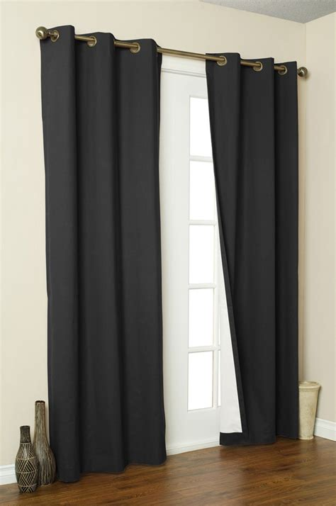 black grommet drapes 2x panels pair microfiber blackout metal grommet curtain