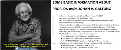 Galtung Johan Essays In Peace Research by Study With Prof Galtung Advanced Conflict Transformation Galtung Institut