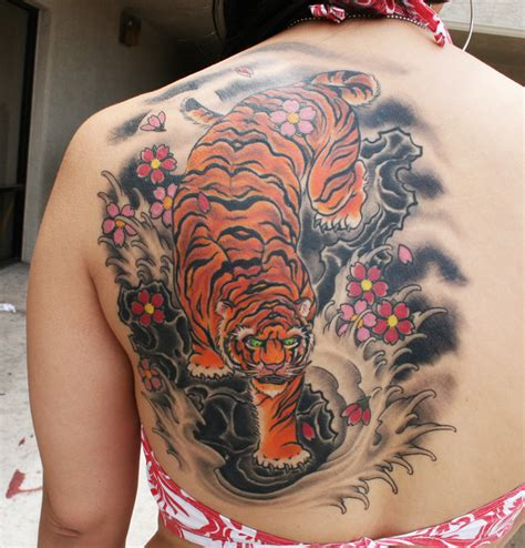 big tattoos for females large tiger for backside sheplanet