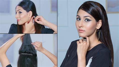 easy hairstyles glamrs kim kardashian inspired sleek straight hairstyle