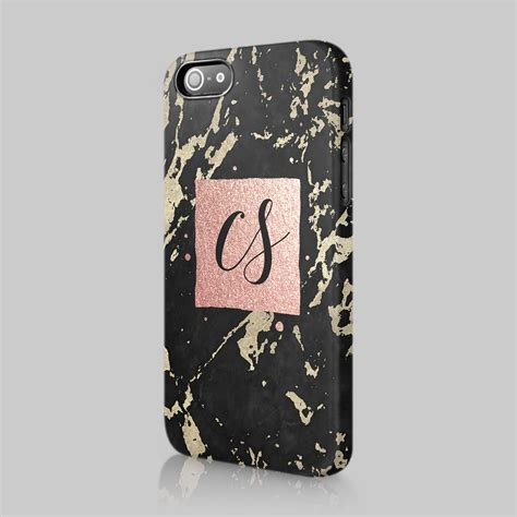 Gift Casing Iphone 5 Custom personalised marble glitter gift initials custom phone