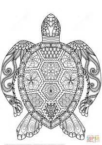 coloring page zentangle turtle zentangle coloring page free printable coloring pages