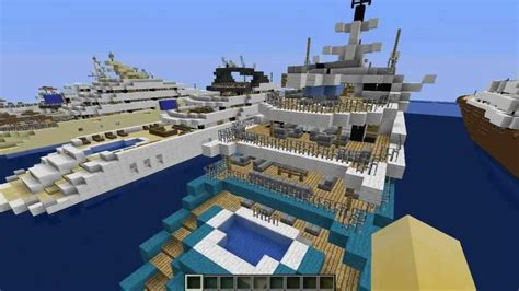 boat r five dock minecraft yacht pack 2 five mega yacht download youtube