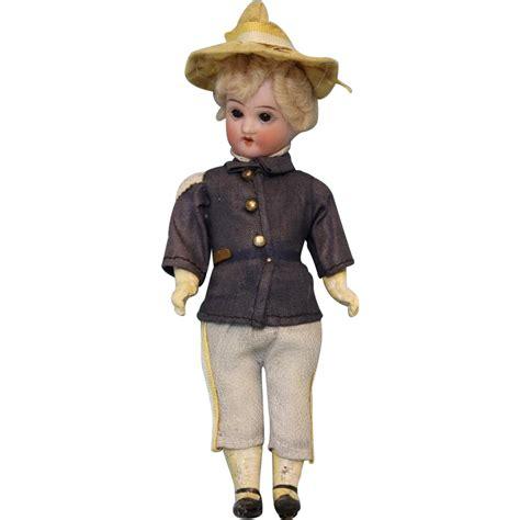 6 inch bisque doll 6 5 inch all original antique soldier boy doll bisque
