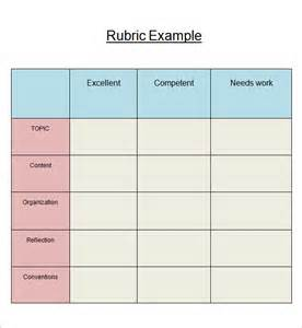 Brochure Rubric Template by Rubric Template 6 Free Pdf Doc Sle Templates