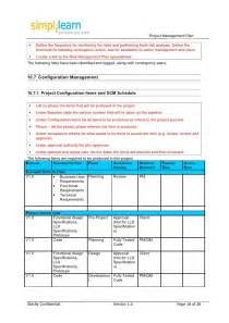 project escalation template project management plan template