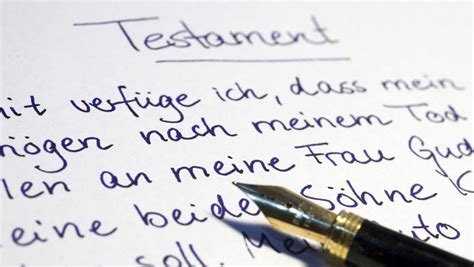 Testament Notariell Beglaubigen by Richtig Vererben H 228 Ufige Fehler Bei Testamenten N Tv De
