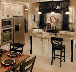 Kitchen With Black And White Cabinets White Kitchen Cabinets Best Kitchen Places
