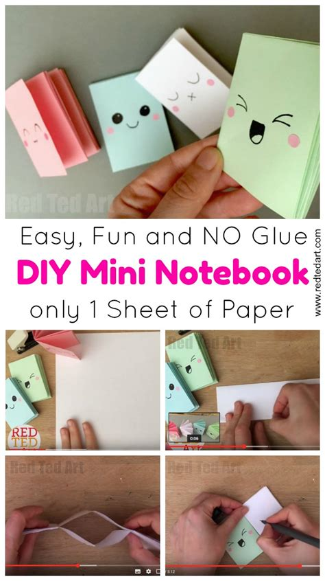 How To Make Paper Notebook - diy mini notebook from a sheet of paper ted s