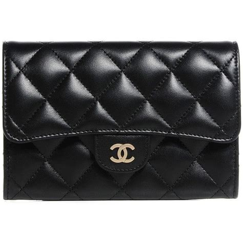 Card Holder Wallts Wallet Aiken Black chanel lambskin quilted small flap wallet black liked on