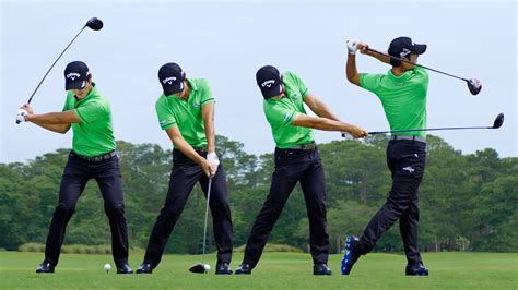 how to swing through the golf ball swing sequence danny lee photos golf digest