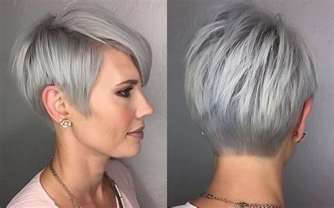 Short Hairstyle Grey Hair   Fashion and Women