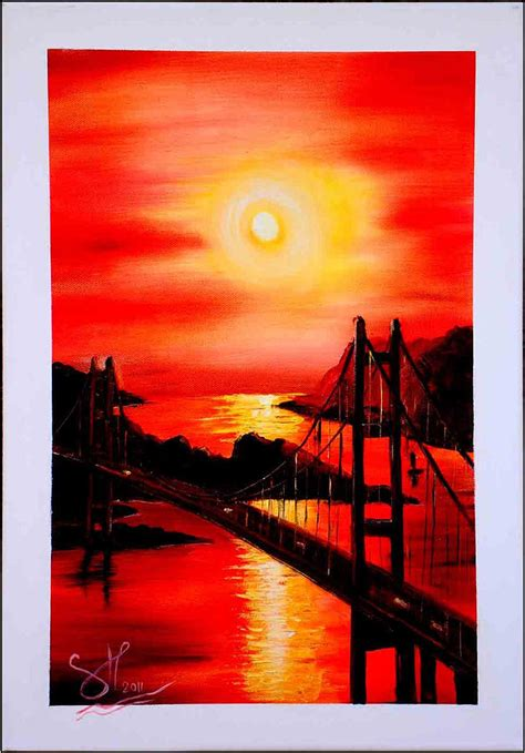 bob ross painting sky istanbul bridge painting by shirwan ahmed