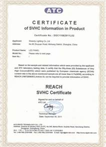 Home Lighting Control Sheenly Led Panel Reach Svhc 53 Test Report
