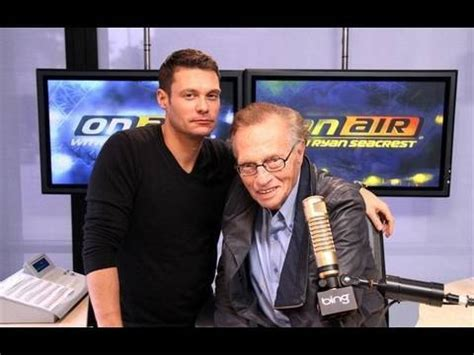 Larry King Wants Seacrest As His Successor by Larry King Sings Quot Quot On Air With