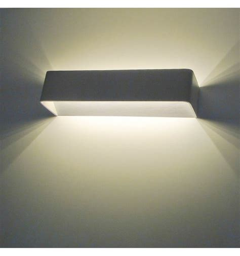 led applique applique murale led design rectangle quadra 12w