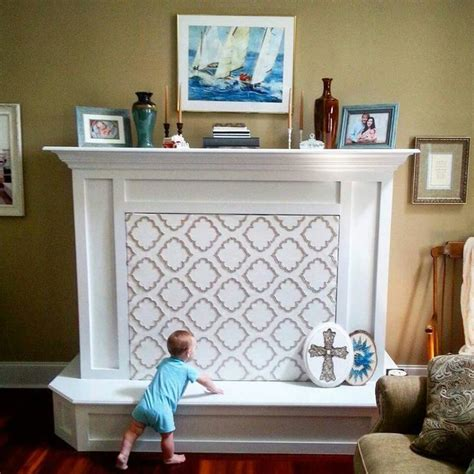 how to cover up fireplace fireplace baby proofing here is my quick solution to keep