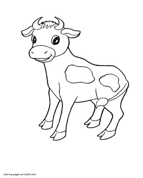 pets coloring pages preschool cow coloring for preschool of animals
