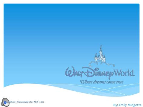 Disney Emily Disney Powerpoint Background