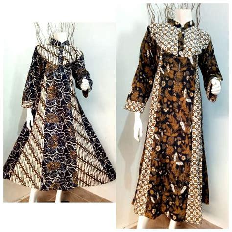 Gamis Dress Batik Sogan jual gamis batik hana sogan grosir batik