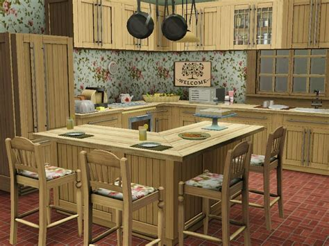 cute  shabby country kitchen design created