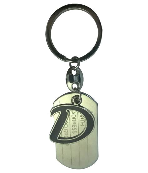 alphabet for keychains metal d alphabet keychain buy at low price