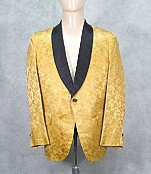 picture of 1950s prom tuxedo vintage mens 1950s gold tuxedo jacket prom rockabilly