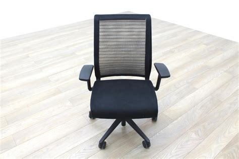 Steelcase Office Furniture by Steelcase Think Black Mesh Fabric Office Task Chairs Ebay