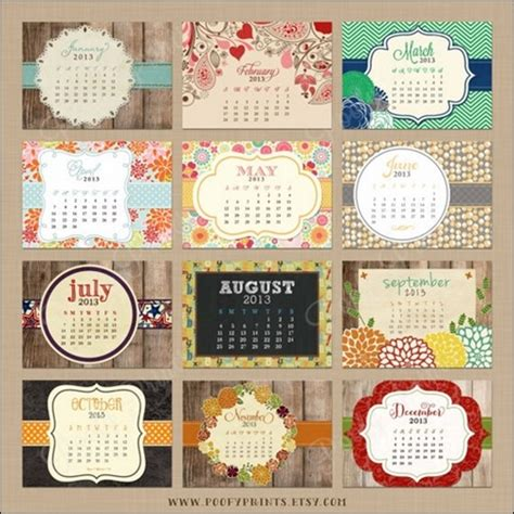 Vintage Kitchen Designs 50 Cool And Unique Calendar Designs 2013 Creative