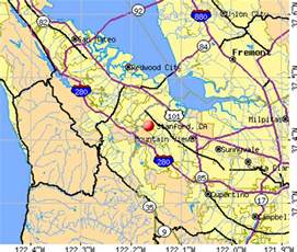 stanford california map santa california city datacom stats about all
