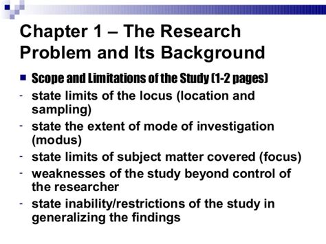 background of the study sle thesis how to write scope and limitation in the research paper