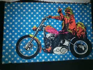 Black Light Posters Vintage Original 1970 Dennis Hopper Easy Rider Black Light