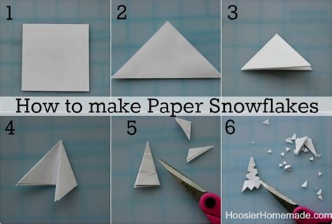 How To Make A Snowflake Out Of Paper Easy - easy winter crafts hoosier