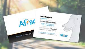 aflac business cards illustration