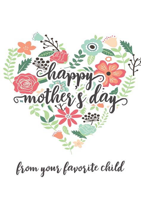 happy s day cards happy mothers day messages free printable mothers day